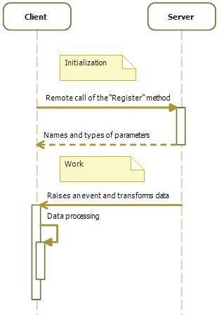 Client server interpretability